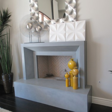 Concrete Indoor Fireplace, Phoenix