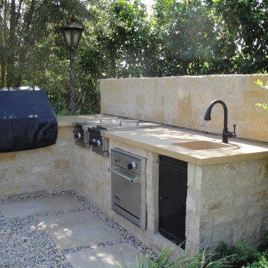 Outdoor Concrete Sink and Counter, Phoenix