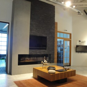 Modern Indoor Fireplace, Scottsdale